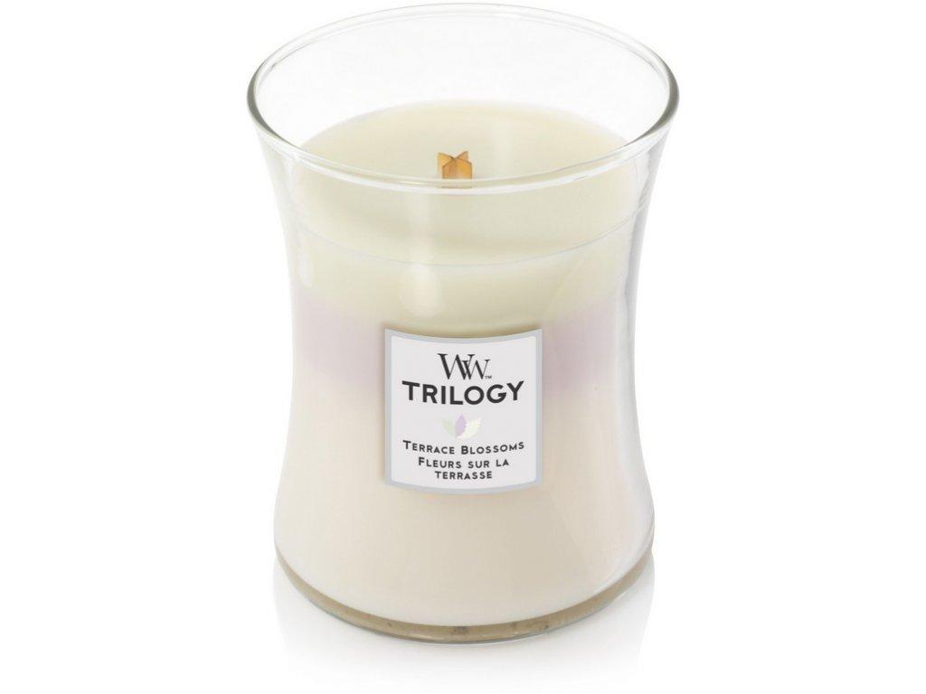 WoodWick Trilogy Terrace Blossoms váza střední
