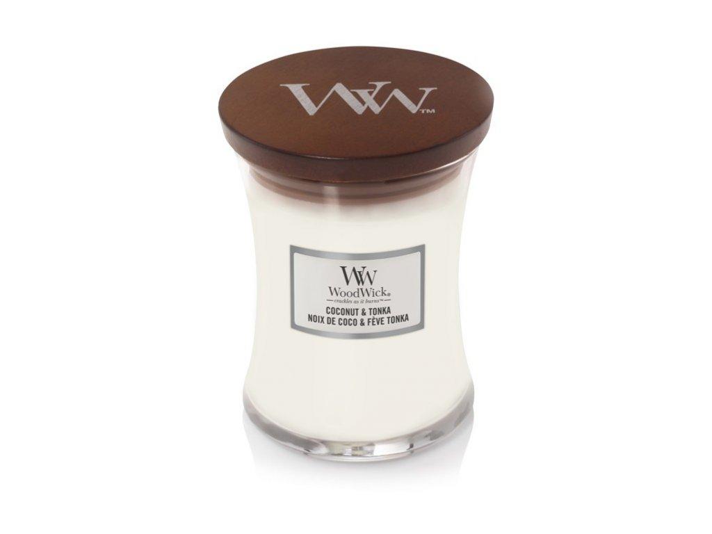 WoodWick Coconut & Tonka váza střední