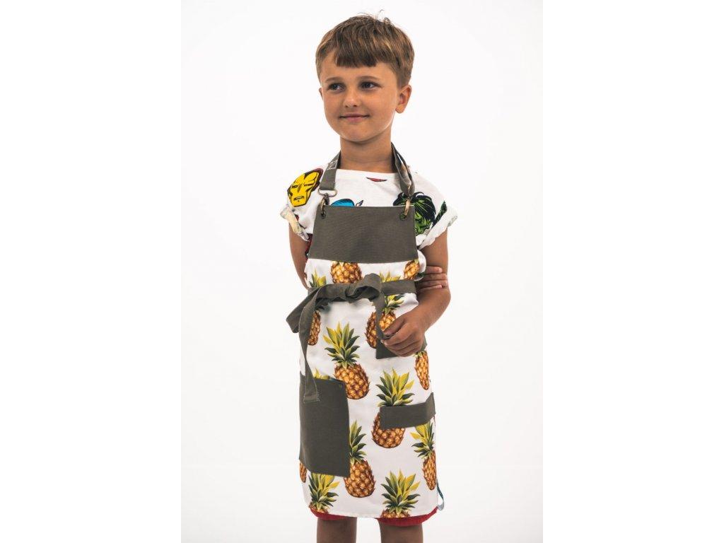 Dětská zástěra pineapple
