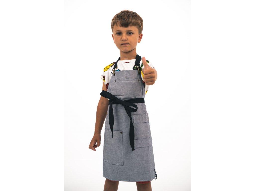 Dětská zástěra reverse denim