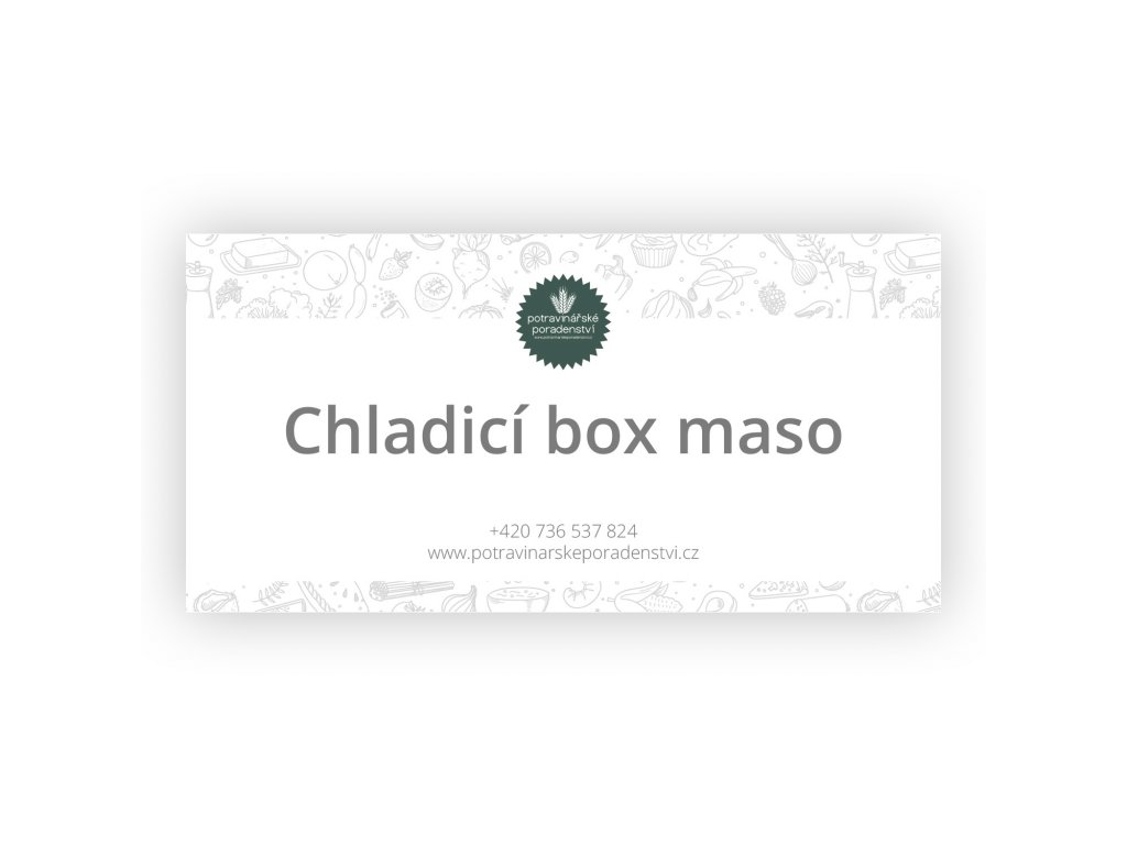 chladici box maso