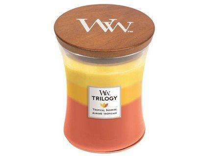 WoodWick Trilogy Tropical Sunrise svíčka střední