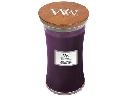 WoodWick Velvet Tobacco svíčka velká