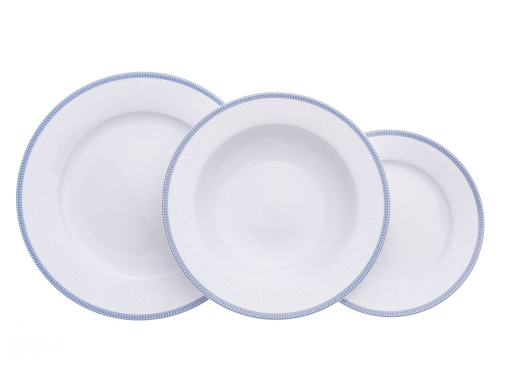 Opal, talířová souprava, krajka