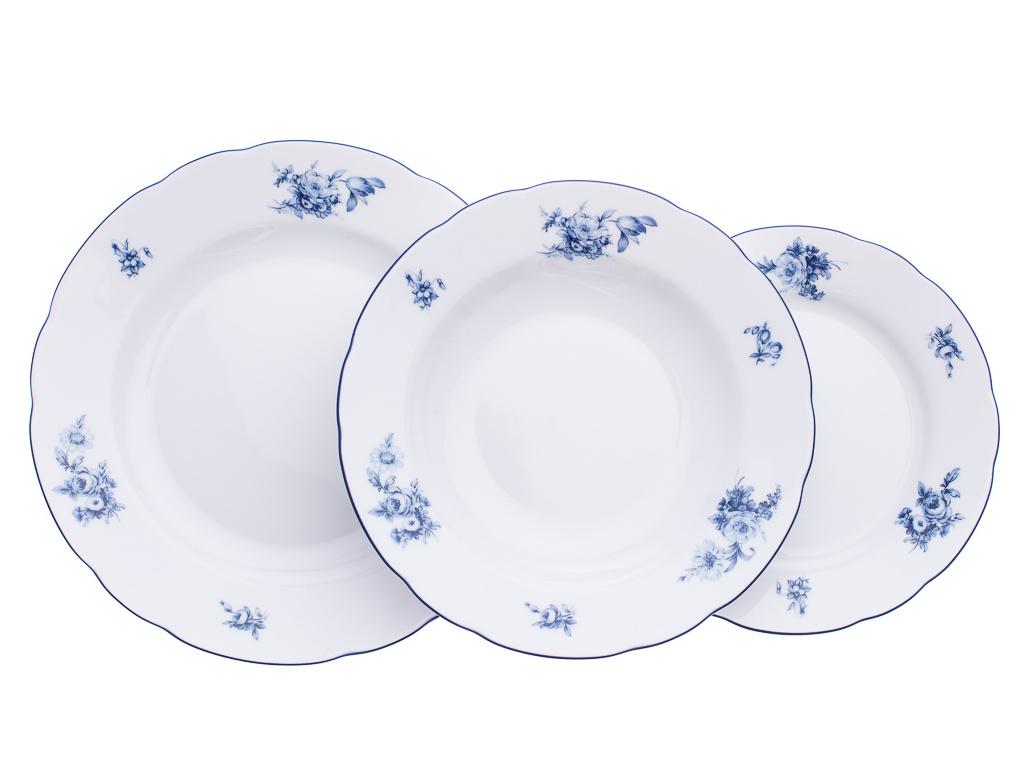 Rose, talířová souprava, modré růže