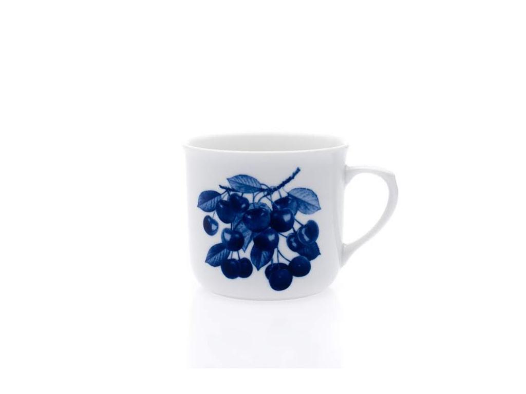 hrnek vařák kobaltové třešně dubí porcelanovy svet