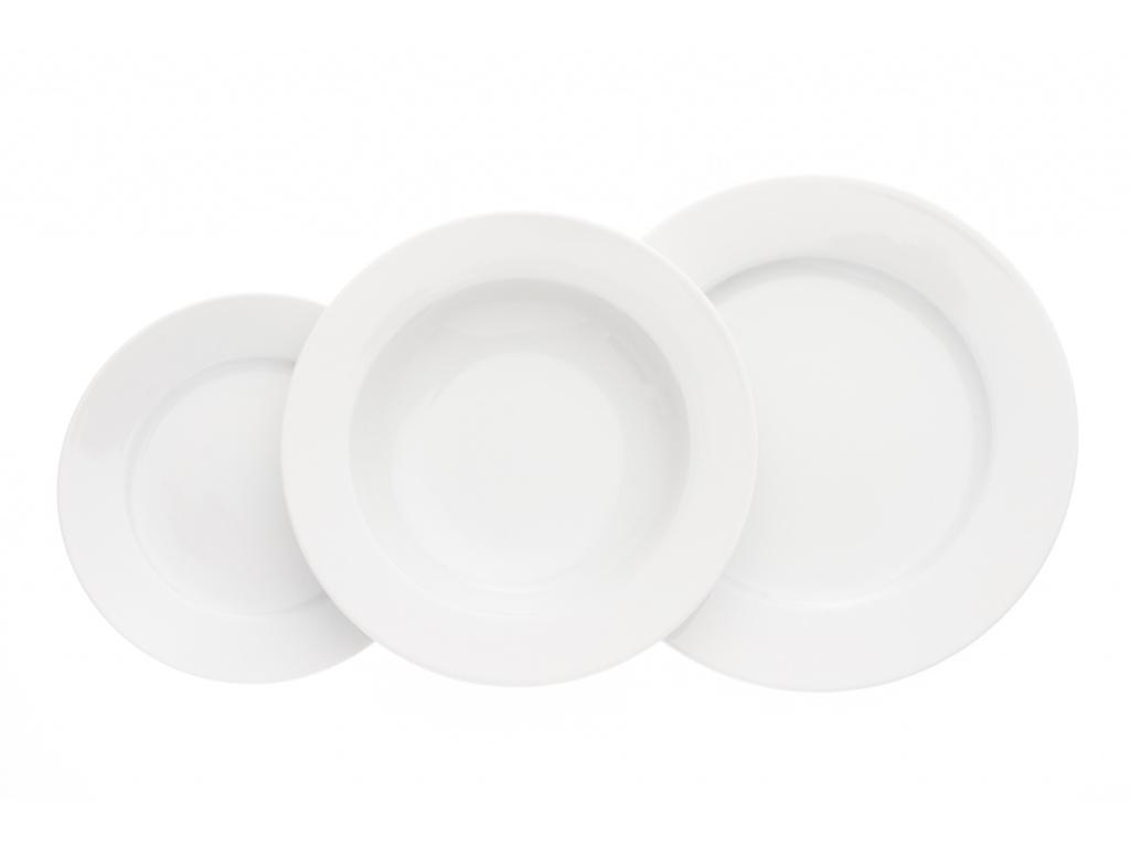 Jana, talířová sada, mělký talíř 26 cm, bílá, Thun