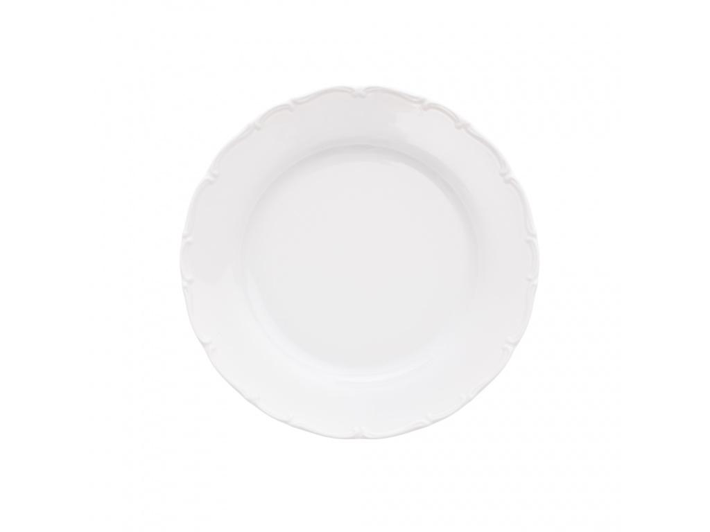 Talíř mělký, 25 cm, bílý porcelán, Ophelia, Thun Rulak Zettlitz