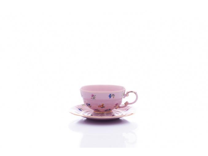 čajový šálek sonáta růžový házenka leander porcelanovy svet