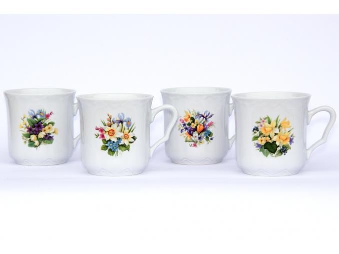 hrnky karel kvetiny sada porcelanovy svet