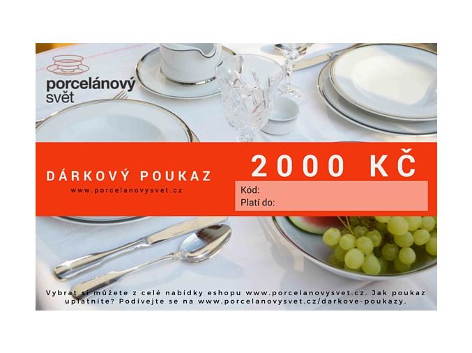 Poukaz 2000 Kč