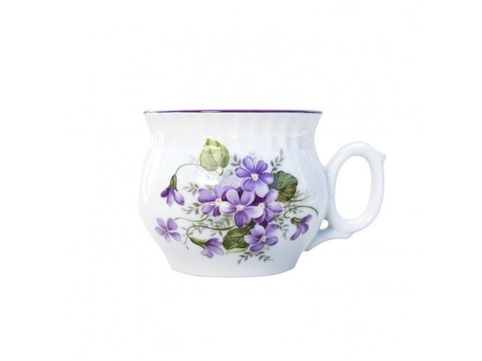 Hrnek Darume, 0,29 l, Český porcelán Dubí, fialky