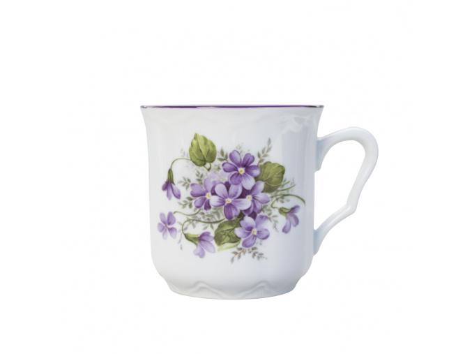 Hrnek Karel, Český porcelán Dubí, fialky