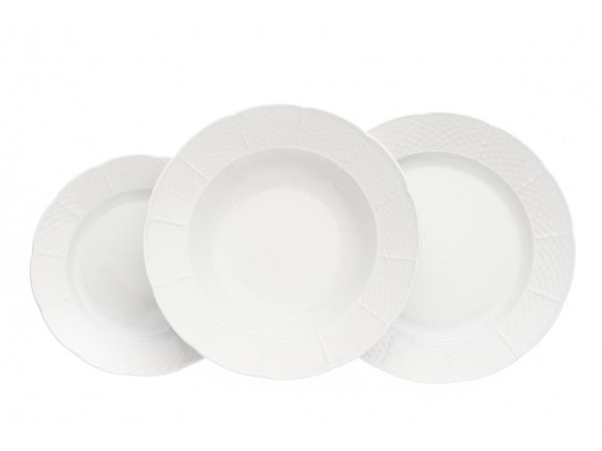 Natálie, talířová sada, bílá, Thun