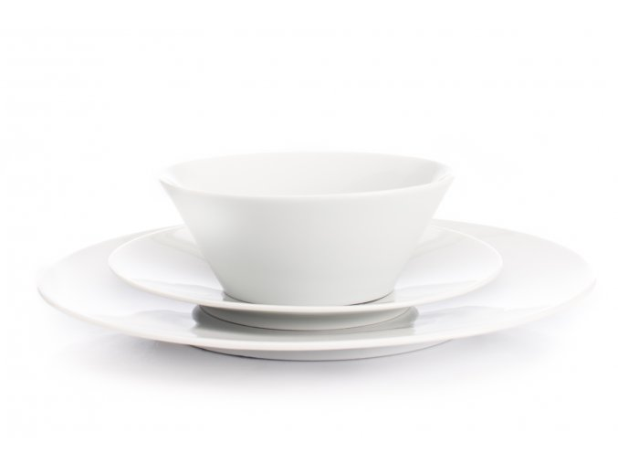 Bohemia White, talířová sada, bílá, Český porcelán Dubí