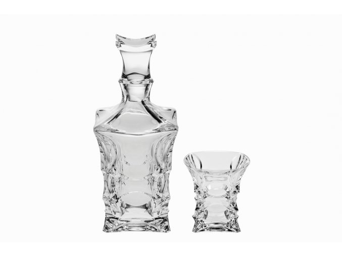 Whisky set 1+6 X-lady, Crystal Bohemia