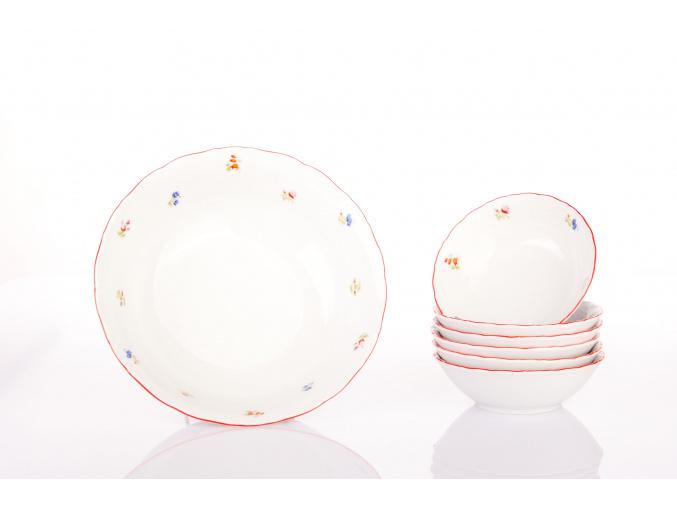 kompotova souprava ophelia hazenka s cervenzm prouzkem porcelanovy svet