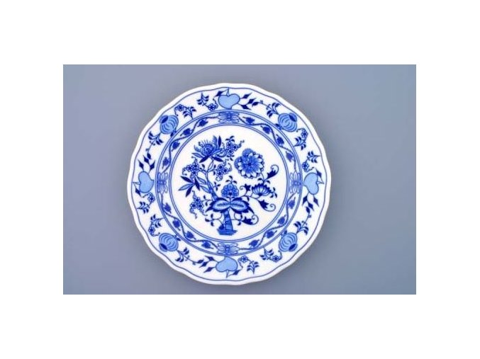 Cibulák, talíř mělký 24 cm, Český porcelán Dubí