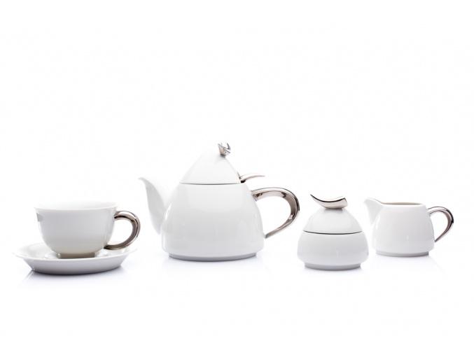 cajova souprava kelt platina bila porcelanovy svet