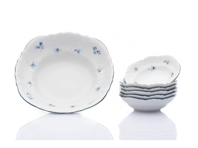 kompotová souprava bernadotte modré růžičky thun porcelanovy svet