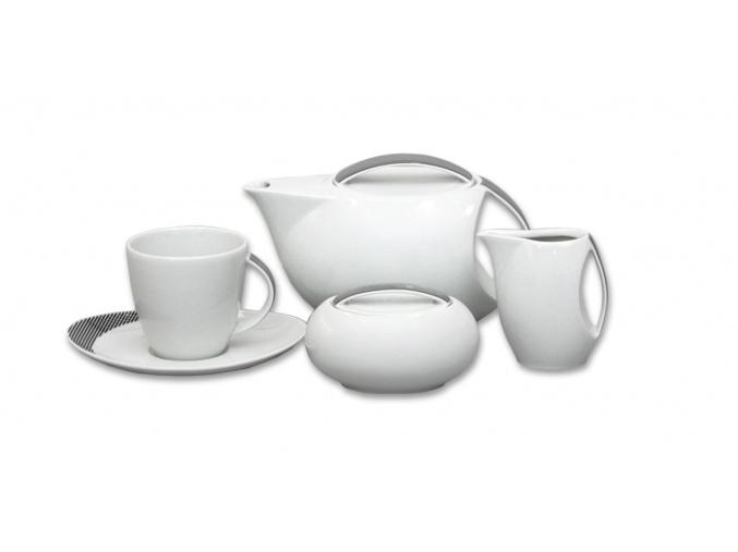 Loos, čajová souprava, Duo, Thun