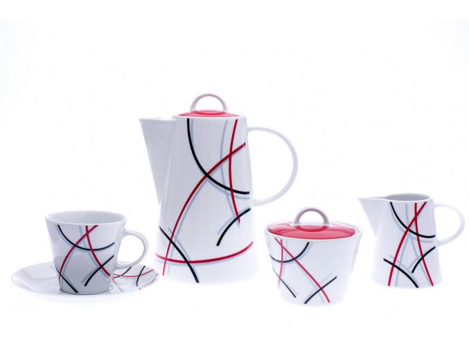 Tom, kávová souprava, čáry, Thun