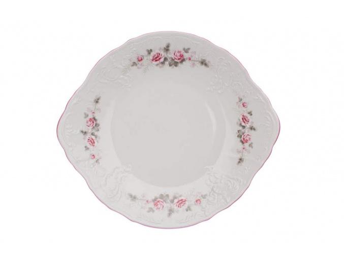 talíř na koláč bernadotte růže, růžová linka thun porcelanovy svet