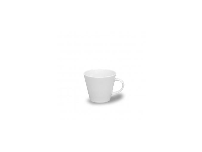 Tom, šálek s podšálkem čajový 260 ml, bílý, Thun
