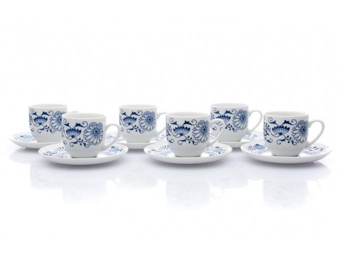 sada šálků s podšálky saphyr cibulák thun porcelanovy svet