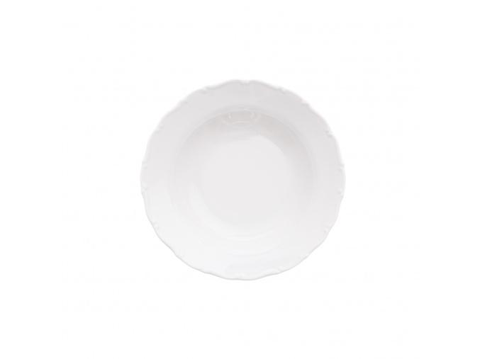 Talíř hluboký 23 cm, bílý porcelán, Ophelia/ Angelina, Thun Rulak Zettlitz
