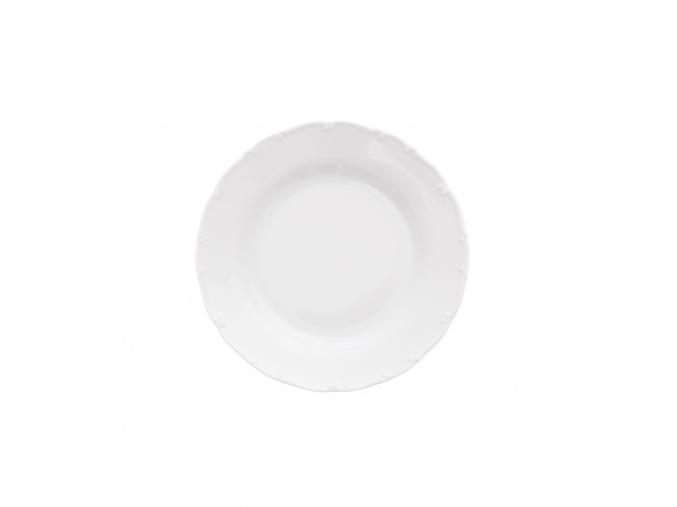 Talíř dezertní, 19 cm, bílý porcelán, Ophelia/ Angelina, Thun Rulak Zettlitz