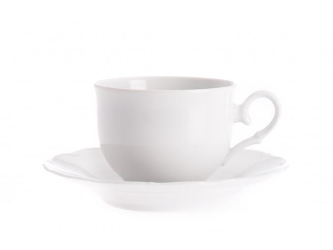 Šálek s podšálkem, 210 ml, bílý porcelán, Ophelia, Thun Rulak Zettlitz