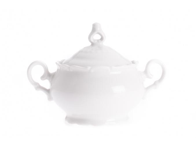 Cukřenka, 0,24 l, bílý porcelán, Ophelia, Thun Rulak Zettlitz