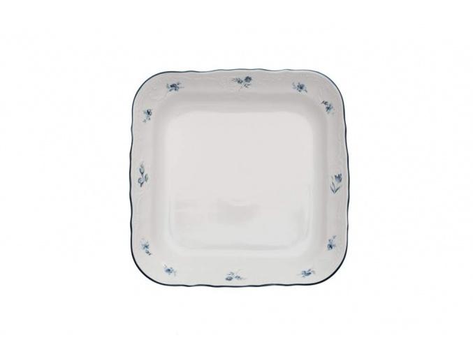 mísa čtyřhranná 25 bernadotte modré růžičky thun porcelanovy svet