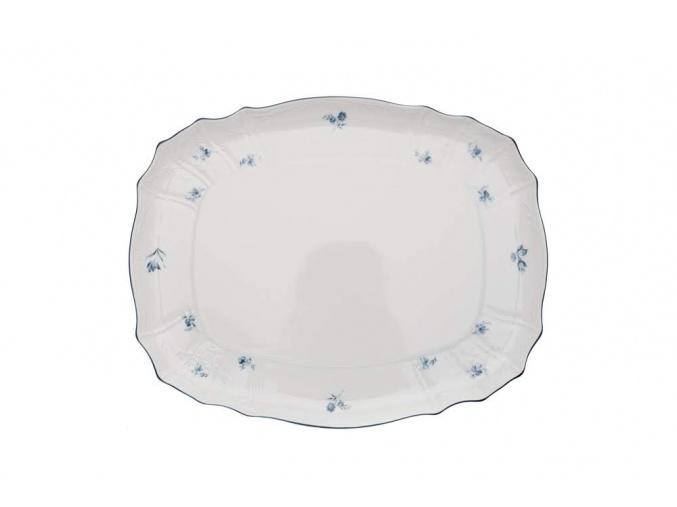 podnos čtyřhranný 40 bernadotte modré růžičky thun porcelanovy svet