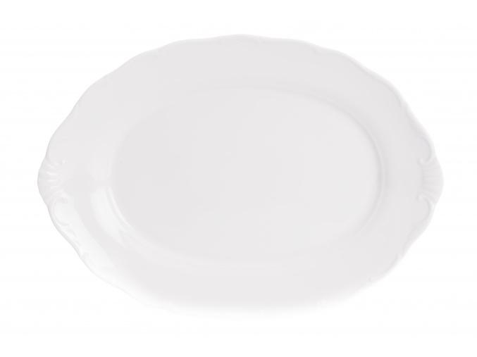 Mísa oválná, 36 cm, bílý porcelán, Ophelia, Thun Rulak Zettlitz