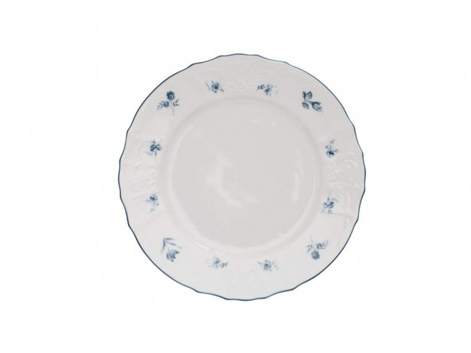 talíř mělký bernadotte modré růžičky thun porcelanovy svet