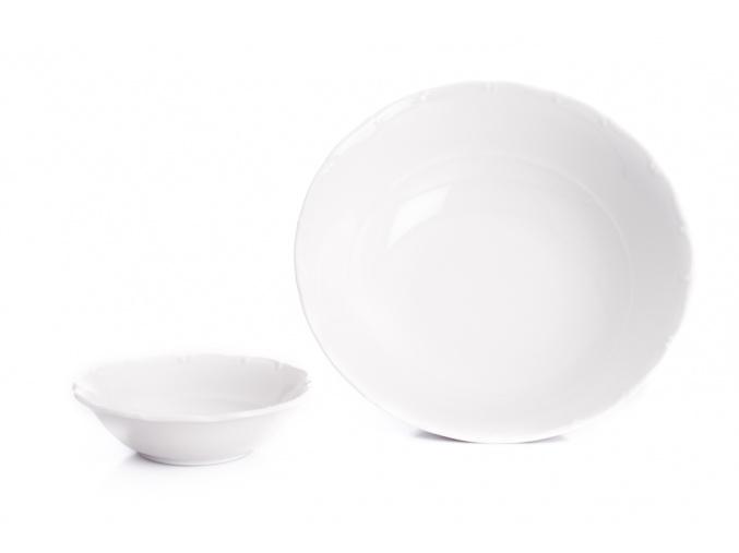 Ophelia, kompotová souprava, bílý porcelán, Thun Rulak Zettlitz, 7 d.