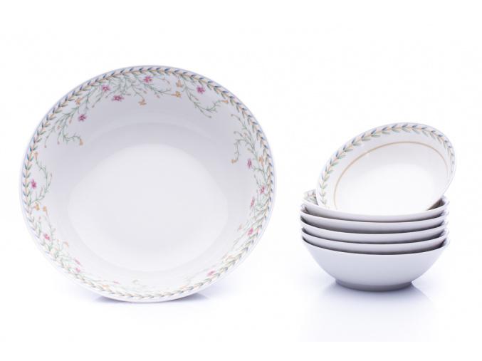 kompotova souprava sylvie drobne kyticky thun cesky porcelan