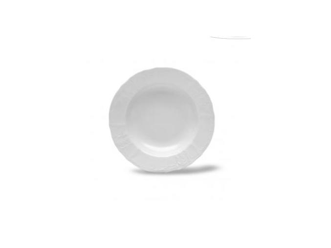 talir hluboky Bernadotte bily 23 cm cesky porcelan