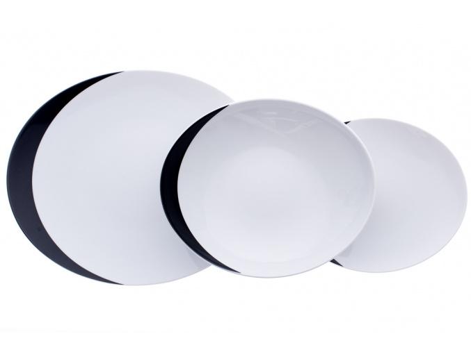 Loos, talířová sada, Uno, porcelán Thun, 18 d.