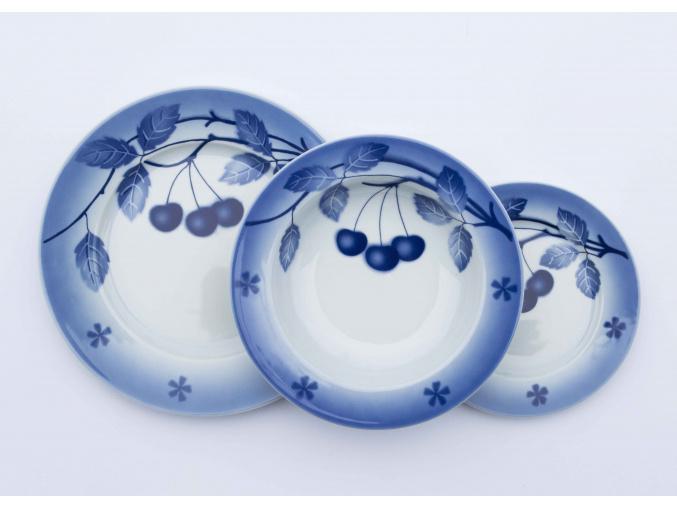 Nina, talířová sada, modré třešně, Thun