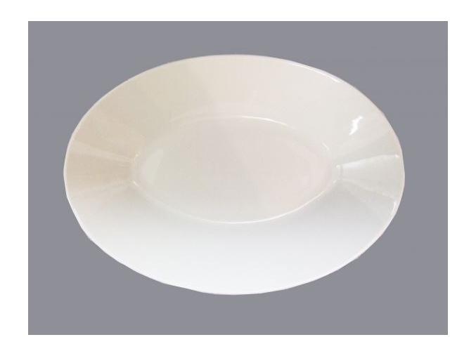 Bohemia White, mísa na špagety 28, bílá, Český porcelán Dubí