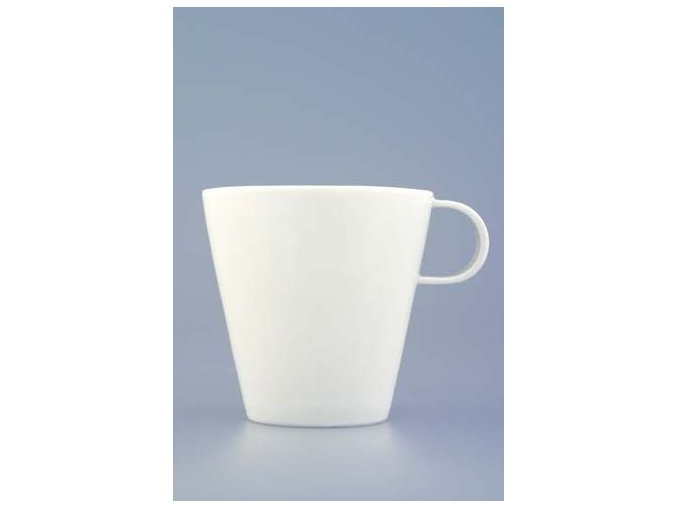 Bohemia White, šálek a podšálek čajový, Český porcelán Dubí