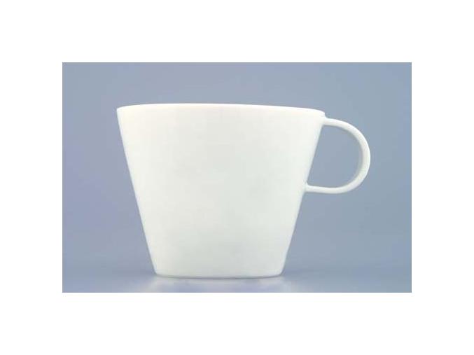 Bohemia White, šálek a podšálek kávový, Český porcelán Dubí