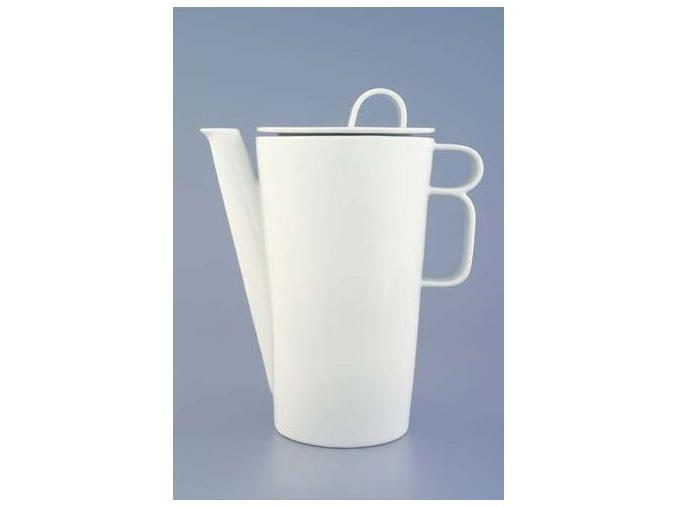 Bohemia White, konvice kávová, bílá, Český porcelán Dubí