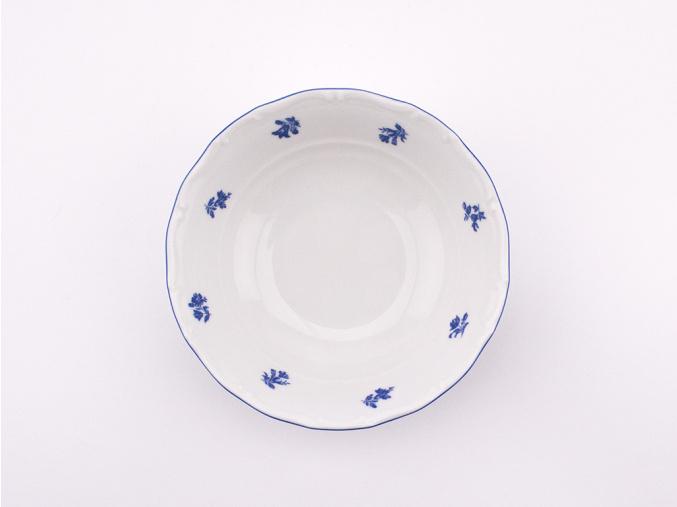 Miska na müsli, 16 cm, Ophelia, modrá házenka, porcelán Thun RZ