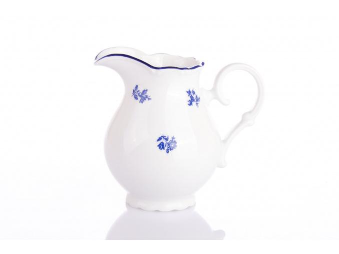Ophelia, mlékovka, 0,24 l, modrá házenka, český porcelán, Thun RZ