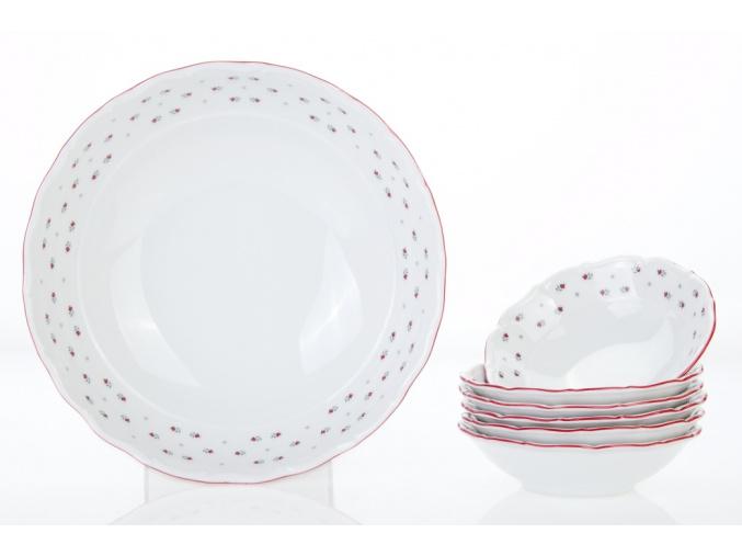 kompotová souprava Franceska G. Benedikt 7 d. český porcelán