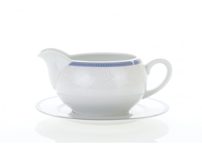 omáčník český porcelán opál krajka modrá thun